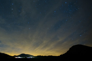 Amazing Star Night - night scene milky way background in the galaxy