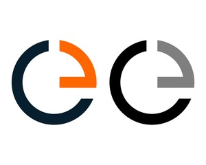 Circle C E Letter Logo Template