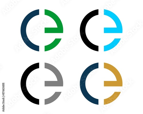 colorful c e letter logo template stock image and royalty free rh fotolia com CE Certification Logo Stamp Ce Logo EPS