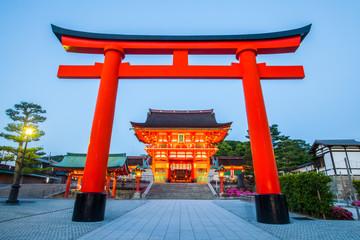 Fushimi Inari Shrine ,  Famous and important Shinto shrine in southern Kyoto , Japan Wall mural