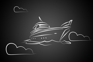 Yacht icon illustration