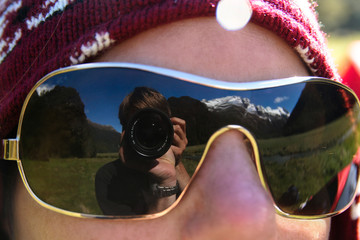 Reflection of the Routeburn track, New Zealand