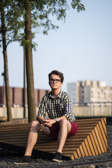 Urban portrait of a young man