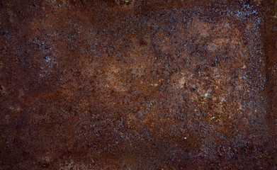 Peace of rusty metal cheet. Background for design Wall mural