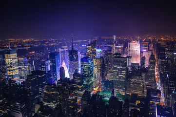 Fototapete - New York City at Night
