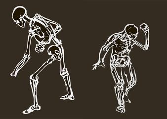 Skull mans in eps