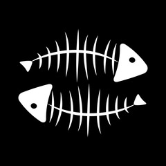 Fish Bone Background Vector Illustration