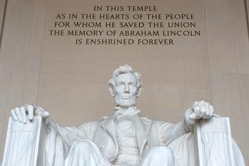 Statue of Abraham Lincoln, Lincoln Memorial, Washington DC Fotomurales