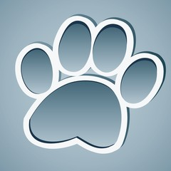 Paw, Animal paw vector