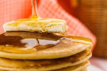 Pancake, Breakfast, Syrup.