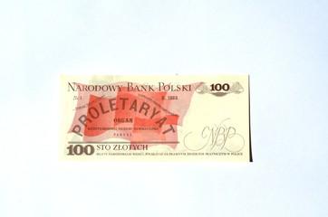 Polskie stare 100 złotych