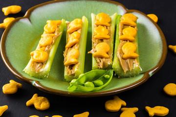 Celery snack.