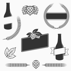 Vintage vector craft beer and brewery emblems, logos templates, labels, symbols  and design elements.