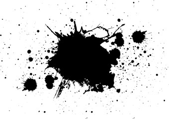 abstract splatter color black isolate background