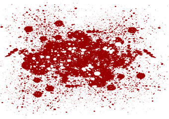 abstract splatter red color on isolate background. Vector red co