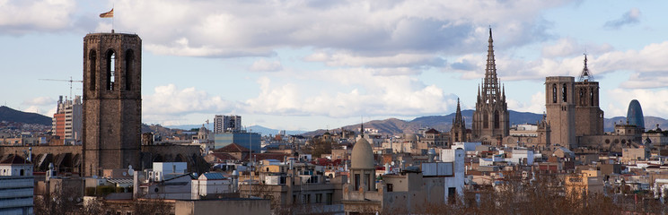 Barcelona Skyline, Cathedral to the right