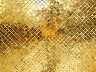 Gold Mosaic tile texture