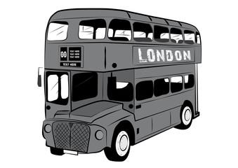 LONDON DOUBLE DECKER BUS VECTOR