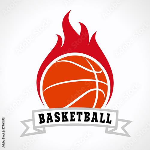 basketball fire logo