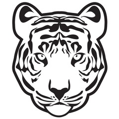 Tiger (tiger head outline vector)