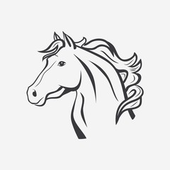 HORSE outline vector