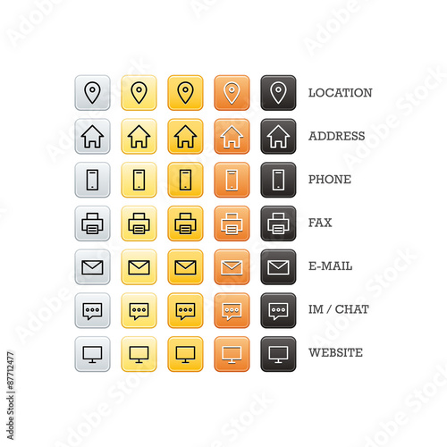 multipurpose business card set of web icons for business finance