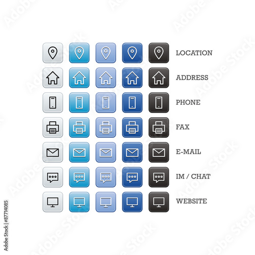 Multipurpose business card set of web icons for business finance multipurpose business card set of web icons for business finance and communication reheart Choice Image