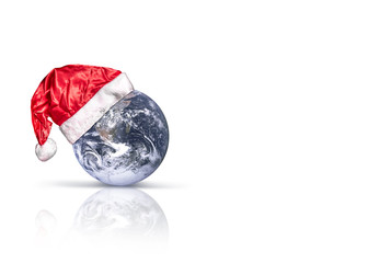 Santa Claus hats and the Earth
