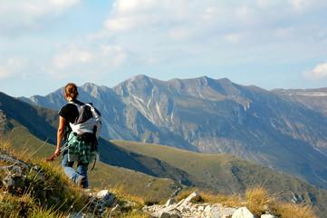 trekking escursionismo monti sibillini Wall mural