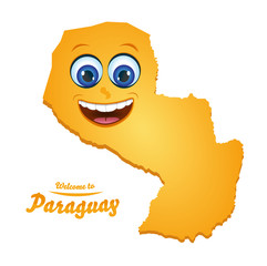 Smiley Map - Paraguay