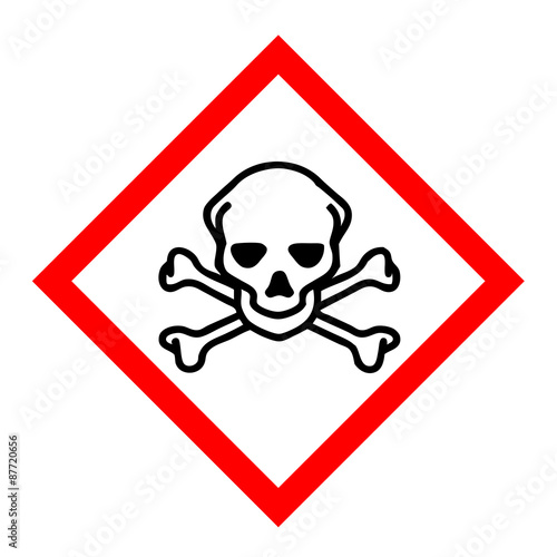 toxic sign and skulls - photo #4