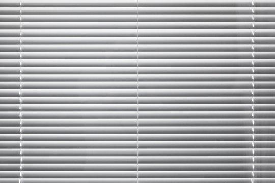 Modern white window blinds background texture
