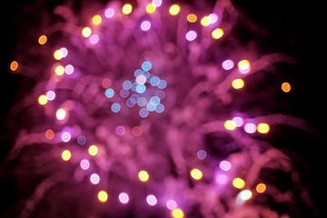 Defocused fireworks