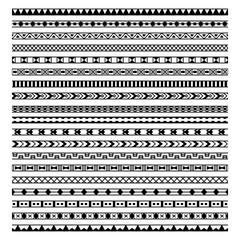 Vector set of twenty hand drawn ethnic decorative elements design