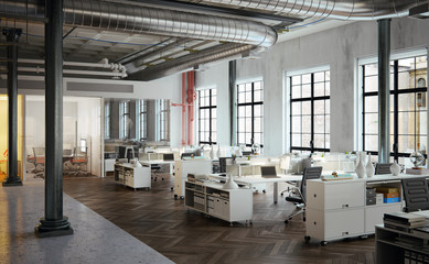 Stylish old downtown Loft Agency Office - Stylische Büro Agentu