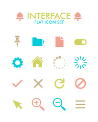 Vector Flat Icon Set - User Interface
