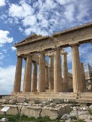 Dettagli del Partenone, Atene, Grecia