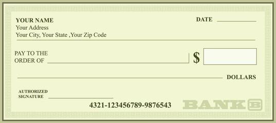 BANK CHECK, bank cheque vector