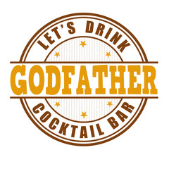 Godfather cocktail stamp
