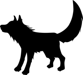 Fox vector silhouette