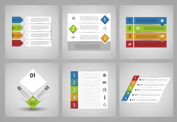 collection of infographic colorful banners