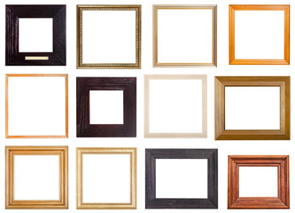 set of 12 pcs square wooden picture frames
