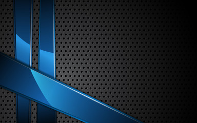 vector steel texture and blue metallic dynamic frame background