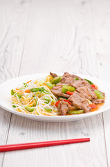 Mongolian Noodles with Beef