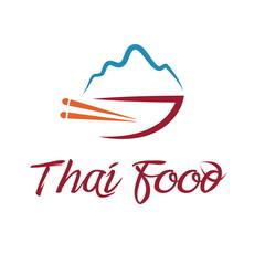 Illustration of thai food bowl. Vector