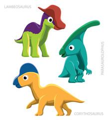 Dinosaur Hadrosaurs Vector Illustration