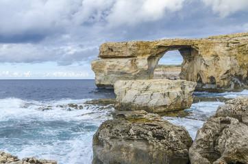 Azure Window in Dwejra, island Gozo, Malta