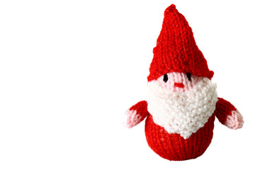 Knitted Father Christmas.