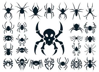 Spider Shapes Set for Halloween
