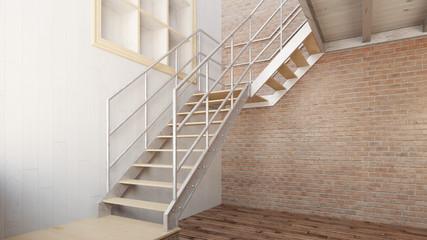 Treppe in einem leeren Loft